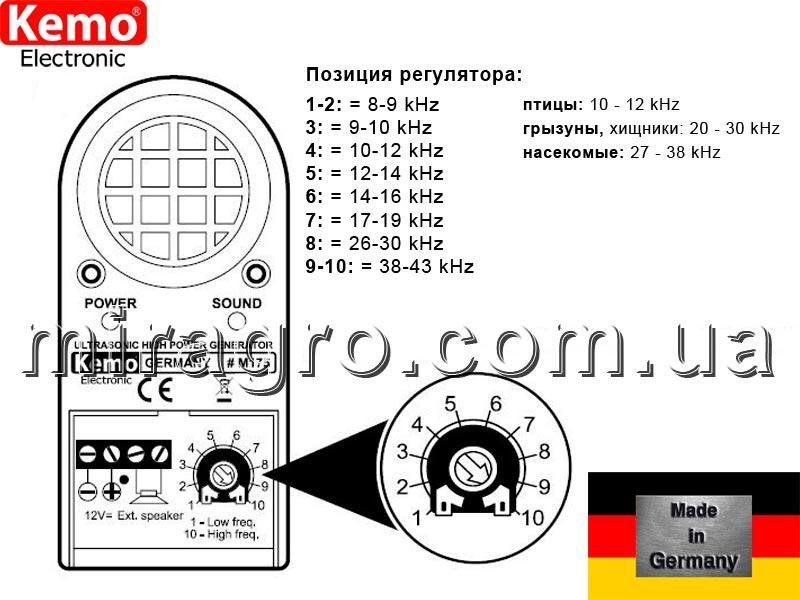 Прибор для отпугивания мышей, крыс - Kemo M175