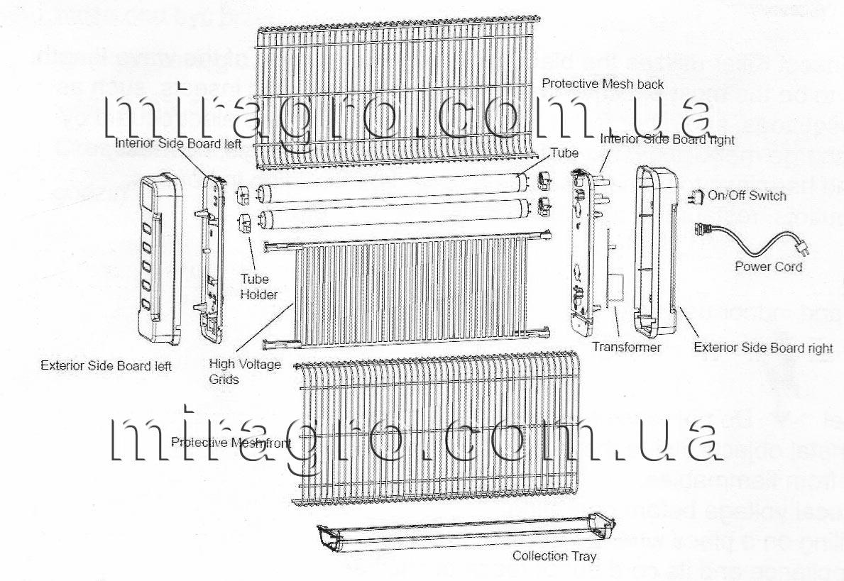 Технические характеристикиловушки для комаров BONA-INS-40W